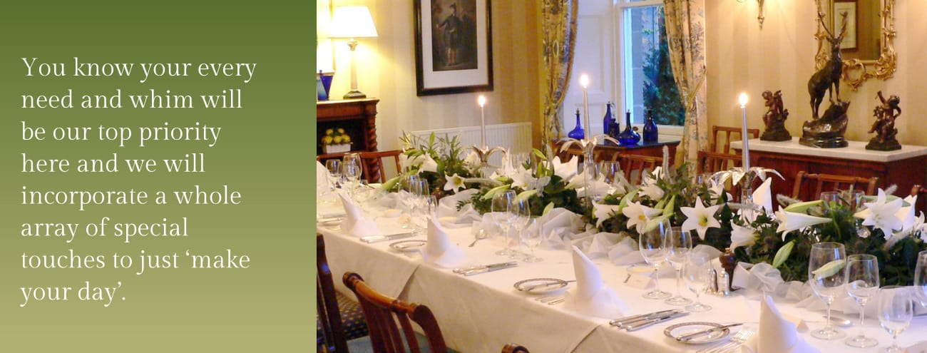 Weddings at Kinloch House