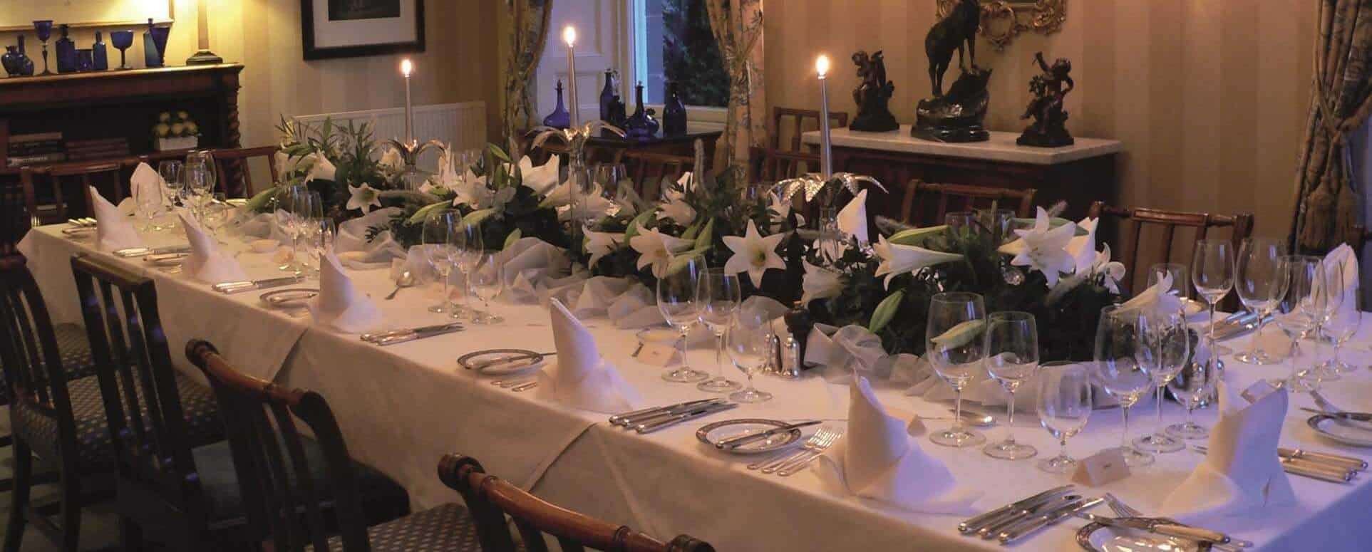 Private Dining at Kinloch House