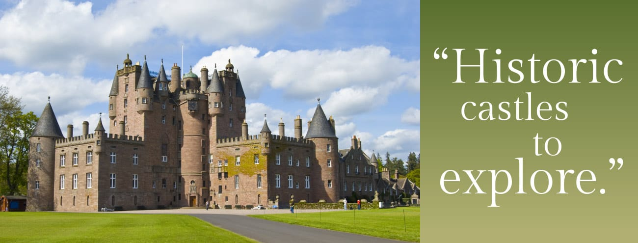 castles and historical places in perthshire